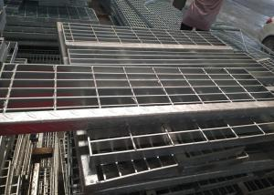 China Mild Steel Stair Treads Grating , Stainless Steel Stair Treads Anti Corrosion on sale