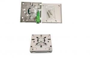 China Economic FTTH ABS 2 Port Fiber Optic Terminal Box With SC and 1M Pigtail supplier