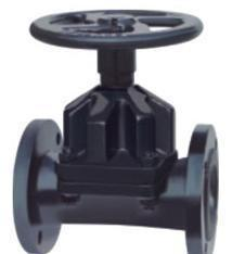 China PN16/CL150 Flanged RF DI/CI GG25/A126 B/WCB EPDM/NR Rubber Lined Straight Through Diaphragm Valve / Saunders KB Type on sale