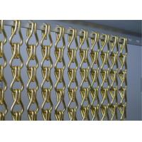 Aluminum Chain Link Mesh Drapery , Chain Link Fly Screen For Space Partitions