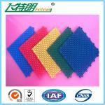 Basketball Court Rubber Interlocking Flooring 2500N 250x250x13 MM 350g / pc