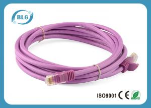 China Stranded UTP Patch Cable 30AWG 2m / 3m Length With 8P8C RJ45 Plug Connector on sale