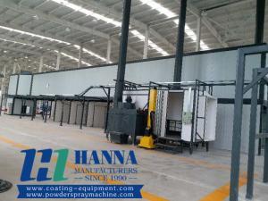 China Electrostatic Automatic Powder Paint Spraying Coating Line from China on sale