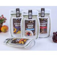 Mason Bottle Shape Custom Snack Bags Recyclable Stand Up Plastic Food Bag