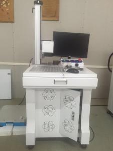 China Cattle Ear Tags Metal Label Fiber Laser Marking Machines / Laser Metal Engraving Machine on sale