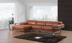 Quality Luxury modular corner sofa , Black leather sofa , Italian leather sofas for sale