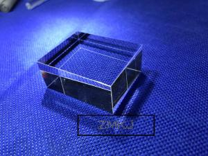 China Hexahedron Sapphire Parts Optical Light Guide Block Lens For Laser Cosmetic Instrument on sale