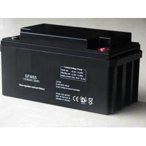 China 12v 65ah 6FM65 Sealed Lead Acid storage Batteries, Emergency lighting Power backup supply on sale