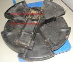 Montaje de la rueda loca del frente de la grúa de correa eslabonada de SANY 300ton SCC4000E