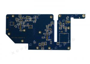 China Hard Gold Blue Soldermask Multilayer PCB Copper Clad Laminate 1.6mm Thickness 1oz on sale