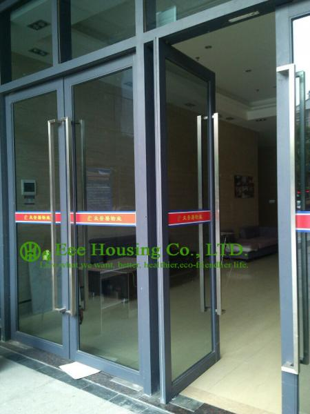 Commercial Aluminum Window Door With Door Closer Automatic Closed