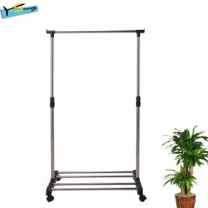 China staniless steel single role stand clothes rack on sale