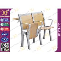 Wooden College Student Desk And Chair Set With Aluminum Frame