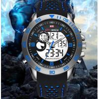 China Sport Watch Men Top Brand Luxury Waterproof Dual Display Silicone Led Digital Watch Male Clock reloj hombre saat on sale