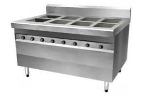 China 3500 Watt High Efficiency 8 Burner Commercial Induction Range Stainless Steel on sale