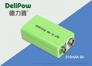 China Environmental Industrial Rechargeable Battery 9v 210mAh For Bicycle Headlight on sale