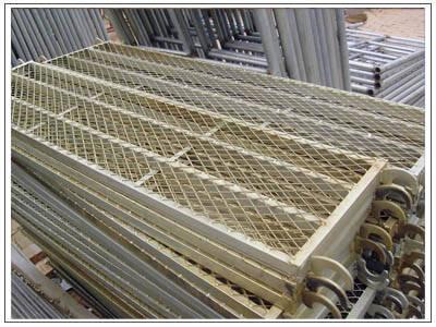 Cheap Mesh scaffolding steel plank catwalk Transomsmetal