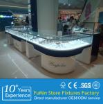 Modern elegant lockable watch and jewelry showcase for store