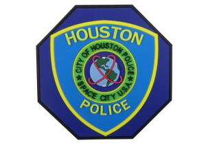 China Special Shape Houston Police 2D PVC Coaster, Custom Drink Coasters on sale