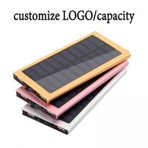 China High Capacity Solar Charger Power Bank 10000mAh External Battery Pack OEM / ODM on sale