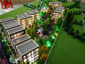 China London residential house scale physical 3d model with led lighting on sale