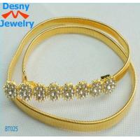Indian Dubai Egypt stylis skinny solid 18k gold tone linkchains curb chain belts