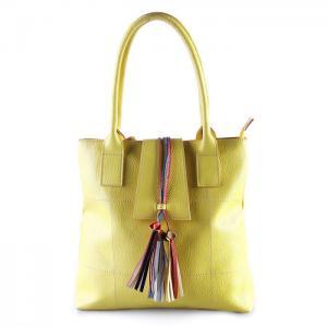 China Yellow Beautiful Italian Genuine Leather Handbags Cross Body For Women on sale