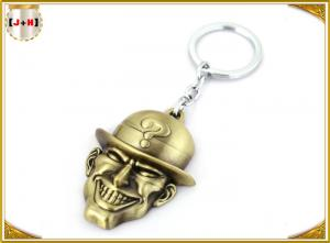 China Porta-chaves chapeada bronze do metal, portas-chaves personalizadas com logotipo gravado laser livre on sale