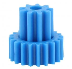 China Double Gears High Precision Gears Of Plastic Gear Moulding In Blue Color on sale
