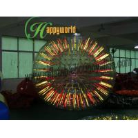 Funny Fluorescent human Inflatable Bumper Ball / Water Zorb Ball Rental