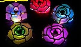 China Plastic Rose Shape LED Headdress Flower Flashing Toys For Party Hair Decoration FA12106 on sale