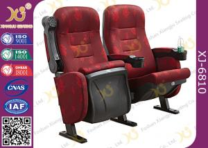 China Mesh Fabric Upholstered Theater Chairs With Leatherette Headrest Row Number on sale