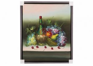 China Unique Framed Still Life Flower Oil Painting Canvas for Home Goods Wall Art on sale