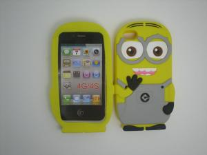 China Despicable Me Silicone Iphone Case For Iphone 4 / Iphone4S on sale