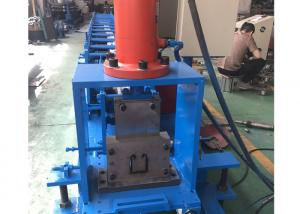 China Post Cutting Shutter Door Roll Forming Machine , Guardrail Forming Machine With 12 Months on sale