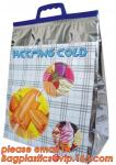 thermal disposable insulated food bags Insulated Aluminum Foil Box Liners / Cold storage Disposable insulated cooler Chi