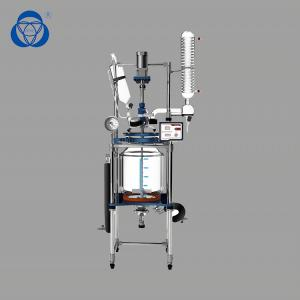 China Accurate Double Jacketed Glass Reactor , Lab Glass Reactor Customized on sale