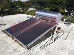 Pressurized Flat Plate Solar Water Heater Blue Titanium Coating With Aluminum Alloy Support