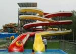 Mix Color Commercial Spiral Swimming Pool Slide For Holiday Resort