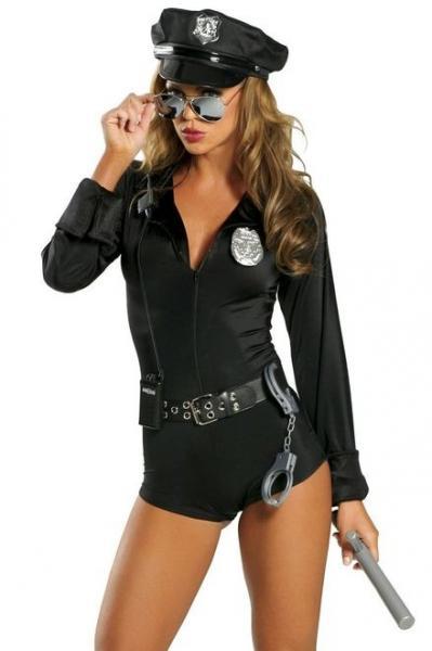 Sexy adult cop costume