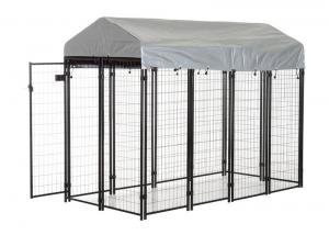 China Metal Modular Dog Kennels Pet Cage , Houseables Dog Kennel Large Dog Crate on sale