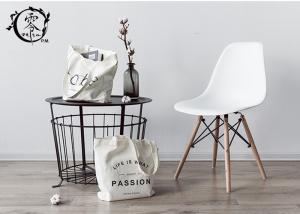 China Natural Color Reusable Cotton ECO Shopping Bags , Tote Plain Color Simple Design Letter Bags on sale