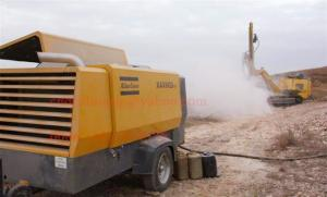 China Rock Drilling Atlas Copco Portable Screw Air Compressor Diesel Engine Powered on sale