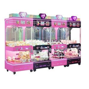 China Indoor Arcade Claw Machine , Pp Tiger 4 Standing Indoor Push Prize Toy Crane Doll Catcher Machine on sale