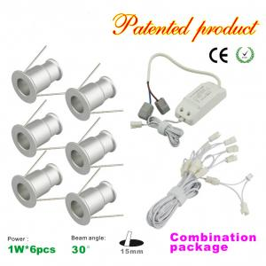 China Mini 1W LED Downlight 6pcs+LED Drive Kit Dimmable Recessed LED spotlight on sale