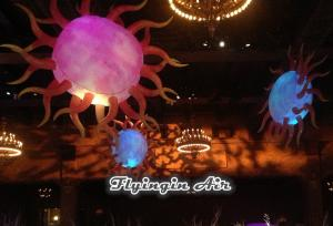 China Decorative Inflatable Sun with LED Light for Holiday and Event Decoration on sale