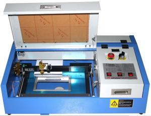 China 3020 Mini Laser Engraving Machine , CO2 Laser Engraver With Water Pump on sale