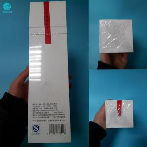 China 27 Micron Soft Shrink Wrap Roll For Naked Cigarette Box Packaging With Heat Sealing Function on sale