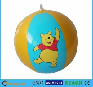 China Disney Winnie Pool Inflatable Beach Ball Printed For Outdoor Swimming Toys on sale