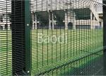 Guard Safety Screen Anti Climb Mesh Fence Panels 8 Guage With Metal Square Post
